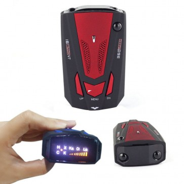 Car Radar Detector 16 Band with Voice Alert Laser V7 LED Display