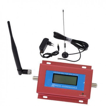 GSM 900MHz Cell Phone Signal Repeater Booster with Mini LCD Display