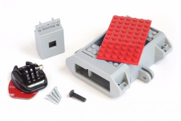 LEGO Compatible Raspberry Pi B+/2 Case, Camera Case, and GoPro Adhesive Mount
