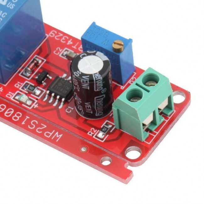 12V Delay Timer Switch Adjustable 0 to 10 Second with NE555 Oscillator
