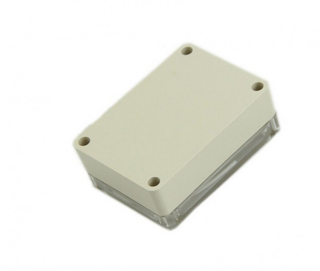 White Plastic Waterproof Electronic Case for PCB Box 100x68x50mm