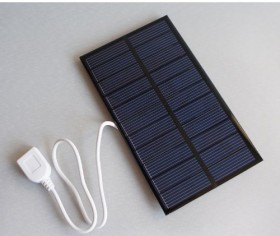 1.6W 5.5V 266mA Polycrystalline Solar Panel Epoxy Module with USB