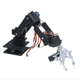 6DOF Aluminium Mechanical Robotic Arm Clamp Claw Mount Robot Kit