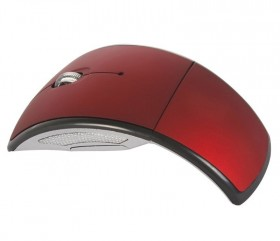 Wireless Folding Arc Mouse - Red