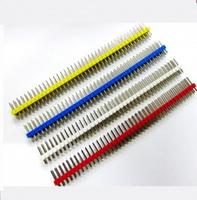 40 Pin 2.54mm Pitch Male Double Row Straight Pin Header Strip