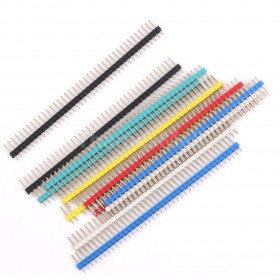 40 Pin 2.54mm Pitch Male Single Row Straight Pin Header Strip