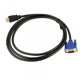 6Ft 1.8M VGA HDMI Gold Male To VGA HD-15 Male Cable 1080P HDMI-VGA