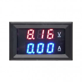 DC 100V 10A Blue and Red Dual Digital Voltmeter Ammeter LED