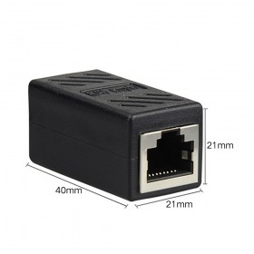 RJ45 Connector Ethernet Network LAN Extender Adapter