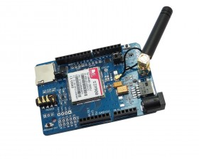 SIMCOM SIM900 Quad-band GSM GPRS Shield for Arduino with Micro SD Card Slot
